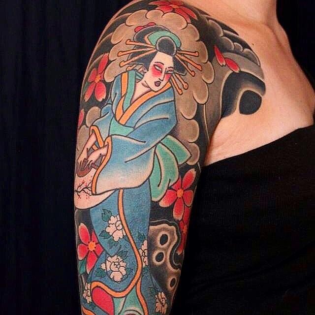 significato geisha tattoo