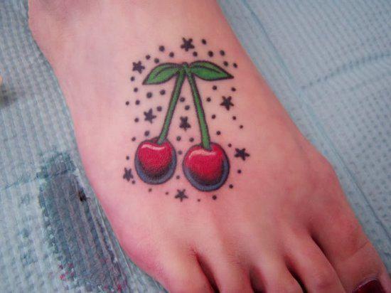 tatuaggio old school ciliege